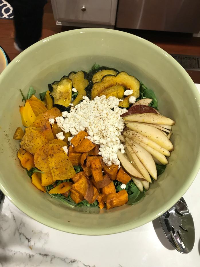 Aunt Cindy's Roasted Vegetable Saladand Secret Balsamic Dressing MELISSA HORNUNG