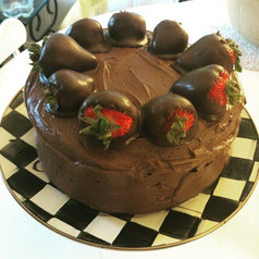Sometimes you have to eat whats healthy for the soul, My famous chocolate cake.