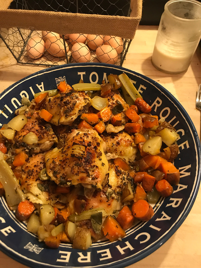 Roasted ChickenCassoulet andRoot Vegetables MELISSA HORNUNG