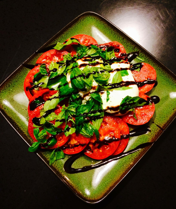 Ruby Red Tomato, Basil and Burrata