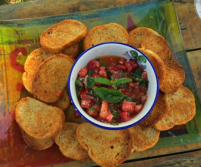 Fresh Garden Tomato Bruschetta!