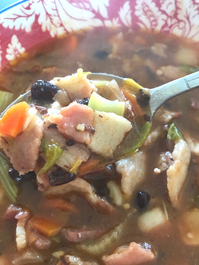 Bacon and Black Bean Soup! MELISSA HORNUNG