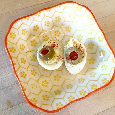 Quail deviled eggs!