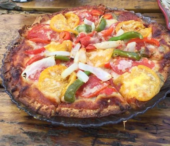 Easy Crispy Gluten FreeVeggie Pizza