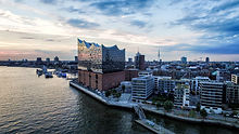 Aerial View on Elbphilharmonie in Hambur