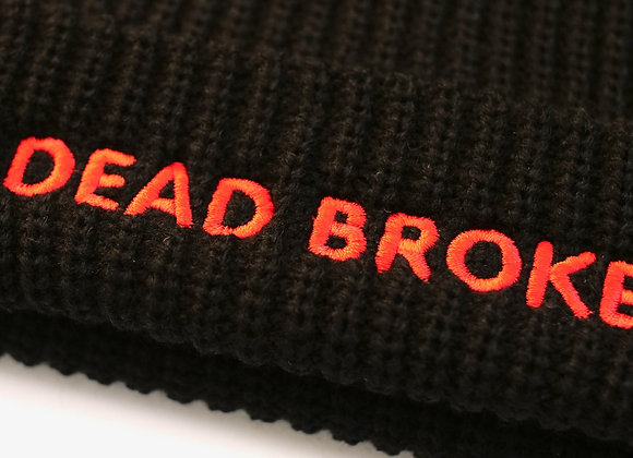 'DEAD BROKE' Black Beanie