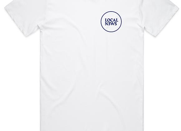 White Logo Tee