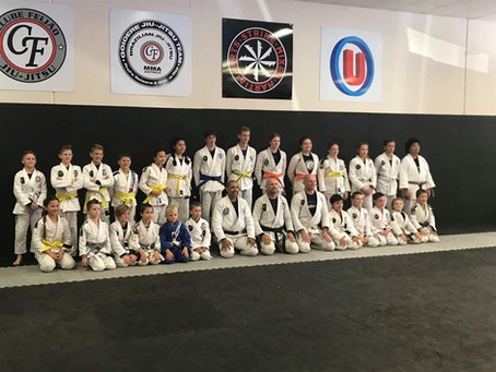 GRADUATION DAY FOR STRIKE JIU JITSU KIDS