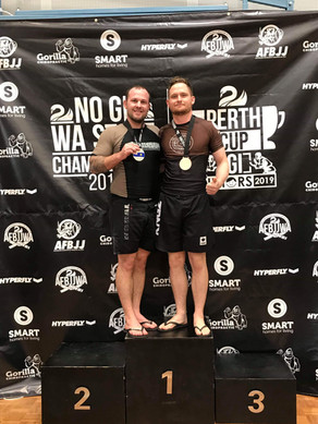 CHAS BARKER WINS SILVER AND BRONZE MEDALS IN TOUGH BROWN BELT DIVISIONS