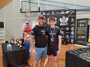 ZACK COOMEY SUBS TOUGH OPPONENT AND WINS GOLD IN JUNIOR BLUE BELT DIVISION