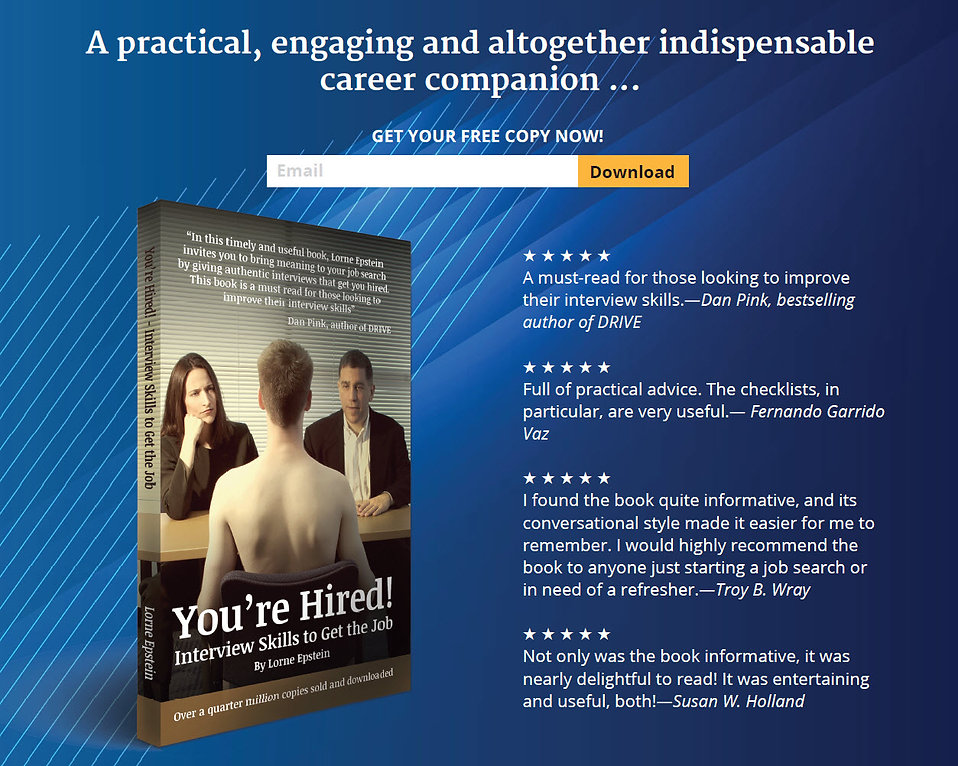 You're Hired! Book Free copy