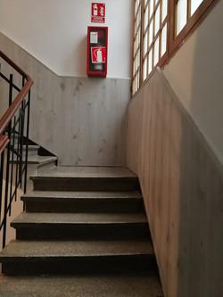 Friso de madera edificio Donostia