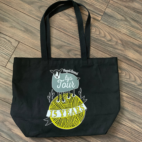 Black LYS Tour Shoulder Tote