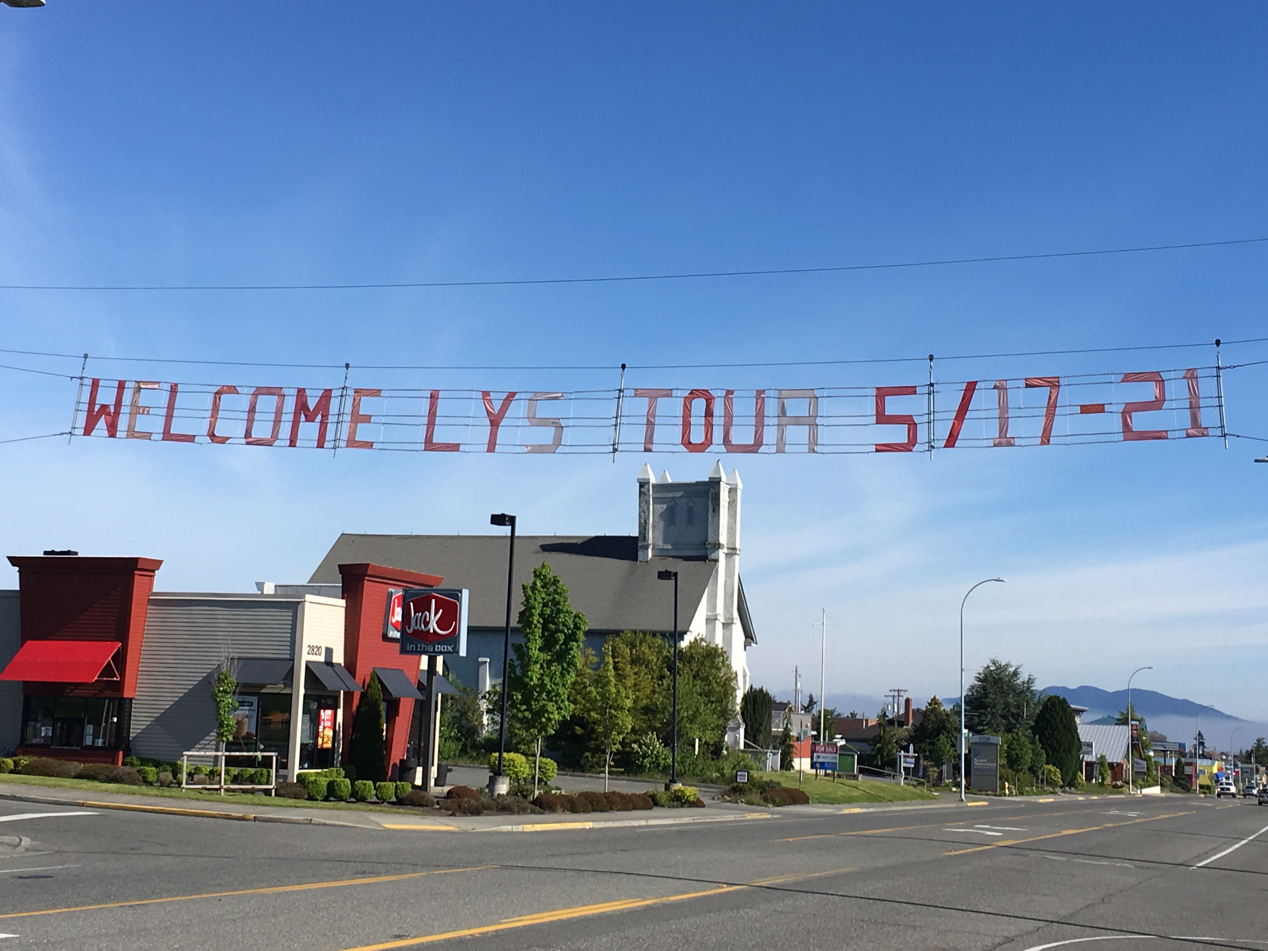 2017 Welcome Sign over Commercial Avenue