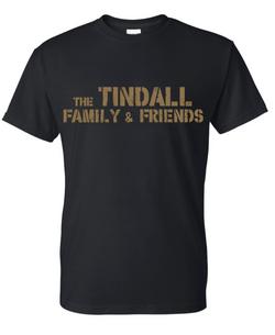 Black Shirt Gold Words