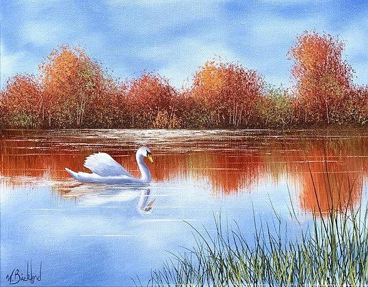 """Autumn Swan"" Painting Packet"