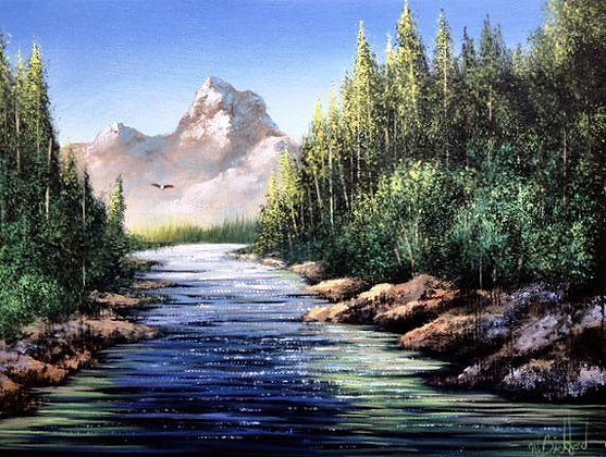 """Mountain Stream"" Painting Packet"