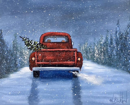 """""""Bringing Home the Tree"""" Painting Packet"""