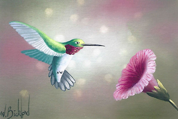 """Ruby Throated Hummingbird"" Painting Packet"