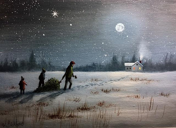"""Christmas Memory"" Painting Packet"