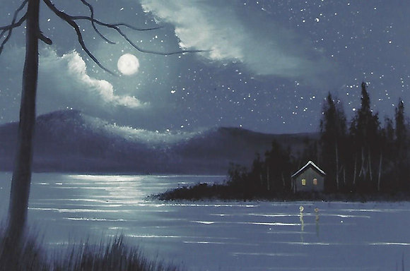 """Moonlit Camp"" Painting Packet"