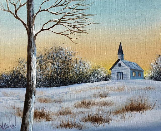"""Winter Church"" Painting Packet"