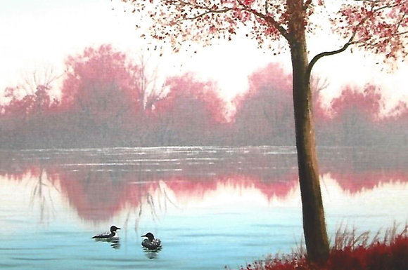 """""""Autumn Loons"""" Painting Packet"""