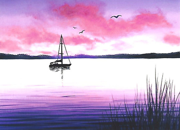 """Sailboat Silhouette"" Painting Packet"