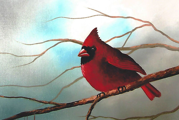 """Red Cardinal"" Painting Packet"