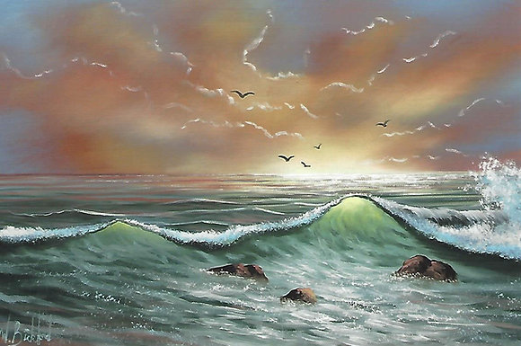 """Evening Surf"" Painting Packet"