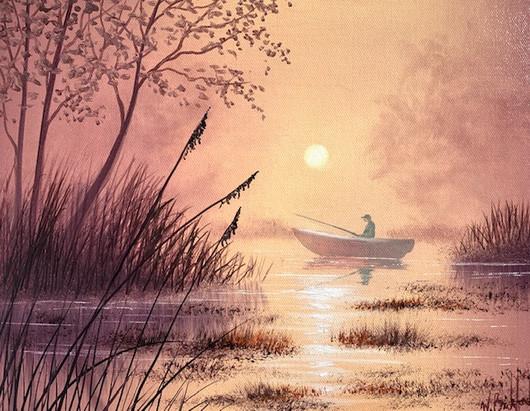 Misty Morning Angler