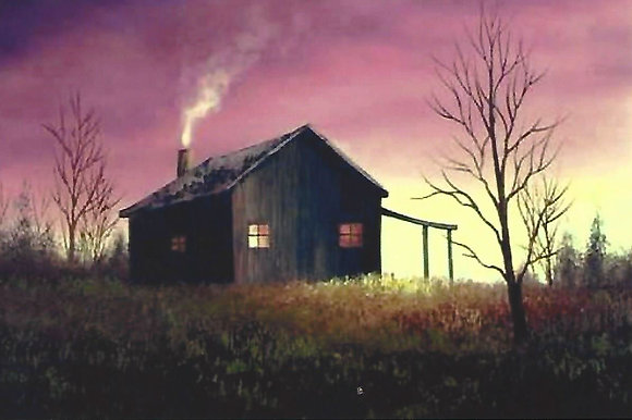 """Cabin at Dusk"" Painting Packet"