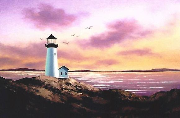 """Sundown Lighthouse"" Painting Packet"