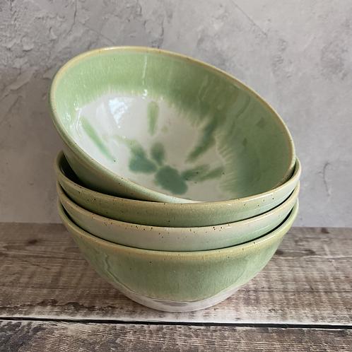 Small bowl - green/white