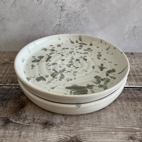 Small plate - white/grey