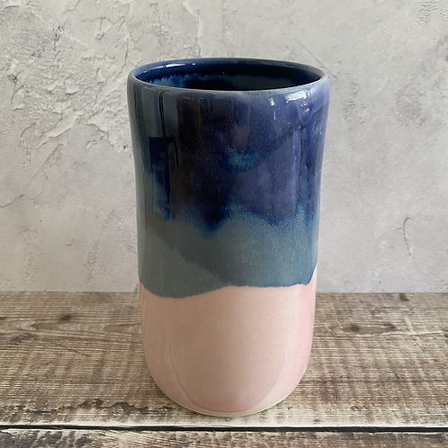 Vase - pink/blue
