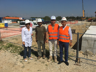 Embassy of Turkey, Chief Commercial Counsellor M. Emrah Sazak visits our construction site in Cambro