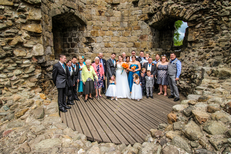 lovely group photo inside Whittington Castle