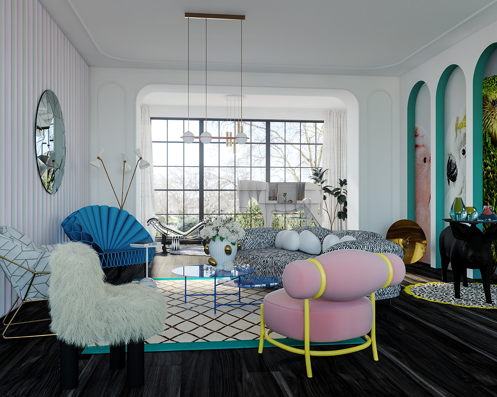 aurore martial london based interior designer eclectic style furniture colorful bold quirky creative mr shopper studio