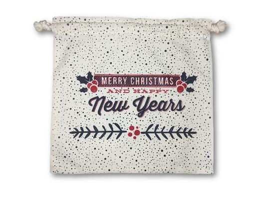 Bolsas de manta navideñas