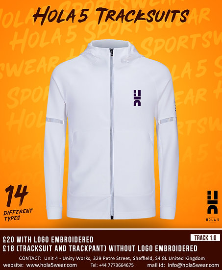 #hola5 Track Suits D1 Upper