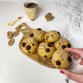 עוגיות שוקולד צ'יפס-פרלינה-שקדים