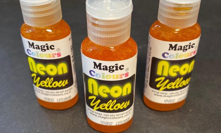 צבע מאכל ג'ל צהוב ניאון