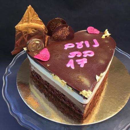 עוגת מוס שוקו-וניל-פטל טבעונית