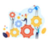 teamwork-management-concept.-vector-flat
