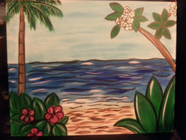 Lined beach