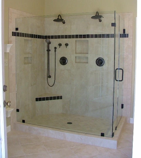 Frameless Shower - ORB finish