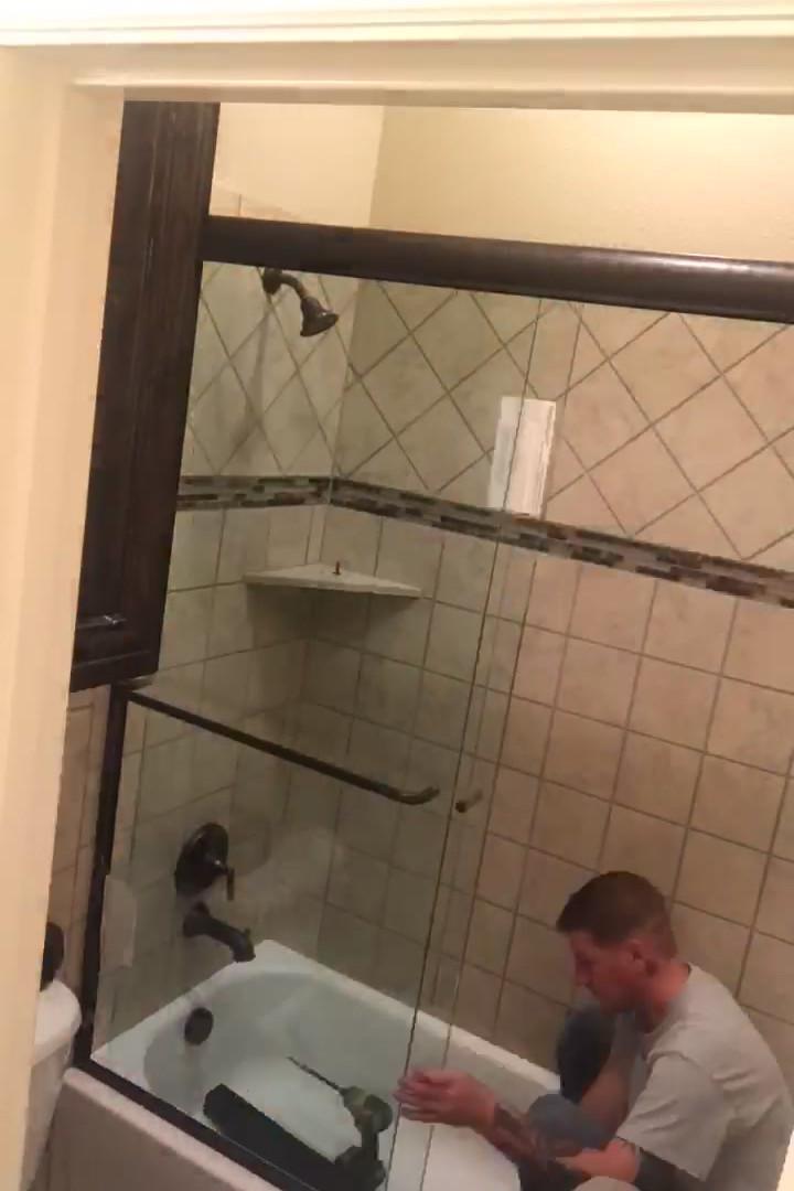 Tube Slider Shower Doors Install Video.mov