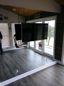 Mirror Wall - TV cut out