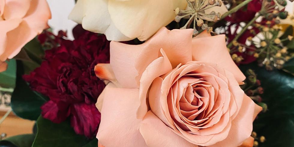 Vase Fresh Floral Arrangement Workshop